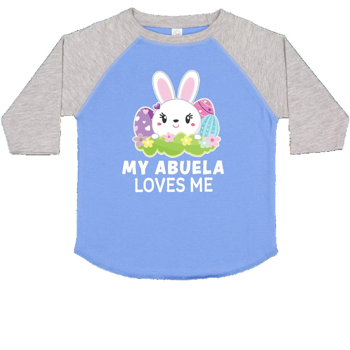 inktastic My Abuela Loves Me with Bunny and Easter Eggs Toddler T-Shirt