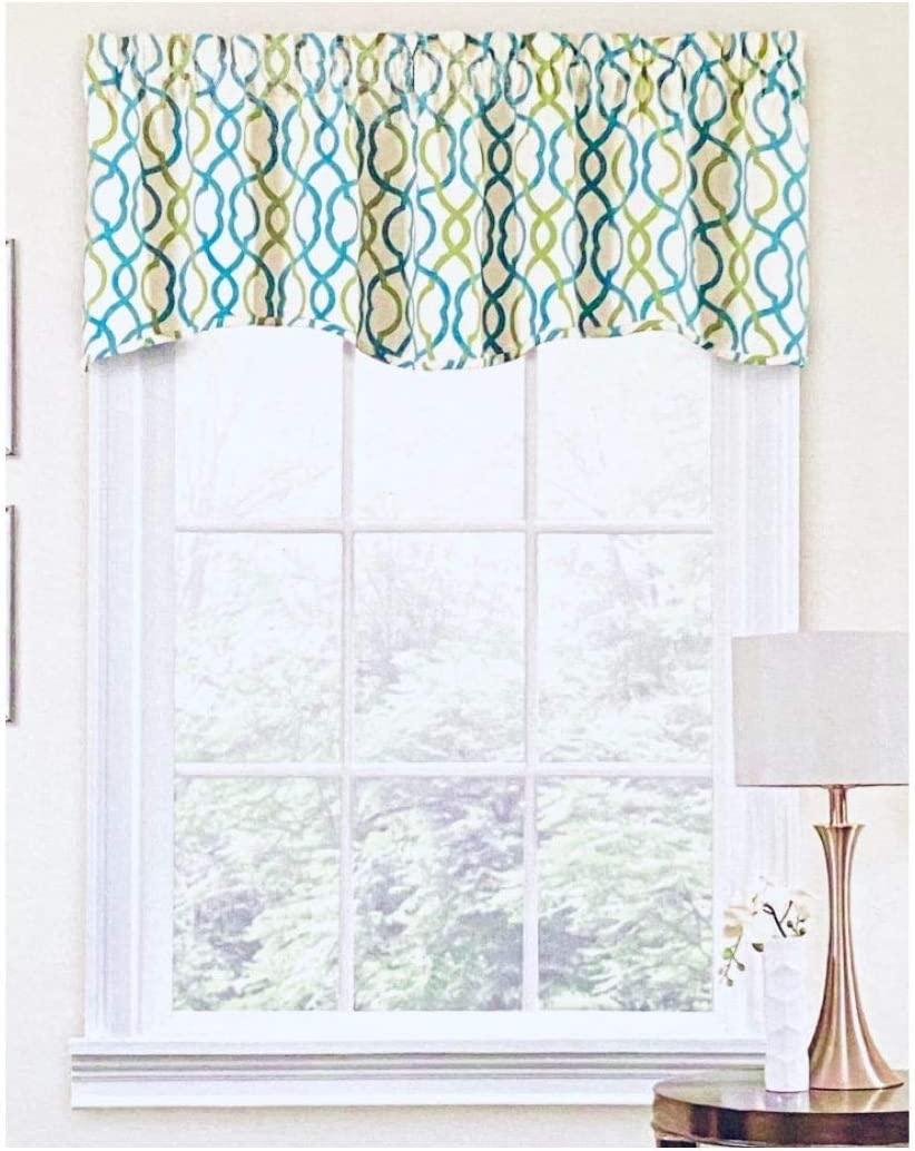 Waverly Traditions Make Waves Window Valance - Capri