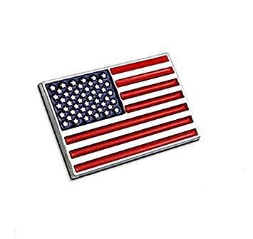 lijuan218 Metal Estados Unidos Bandera Nacional Coche Etiqueta Insignia Metal Bandera Americana Emblema Auto de la
