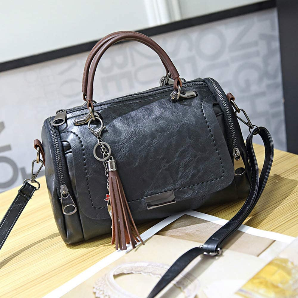 Green Downupdown Women Handbag Cat Tassels Fashion Girl Pu Leather Tote Handbag Pillow Shoulder Crossbody Satchel Bag