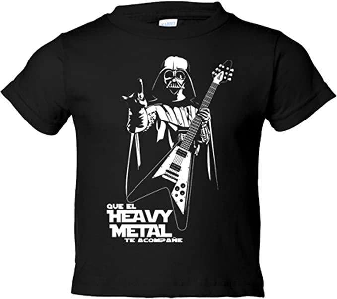 Camiseta niño Que el Heavy Metal te acompañe - Azul Royal, 3-4 años: Amazon.es: Bebé