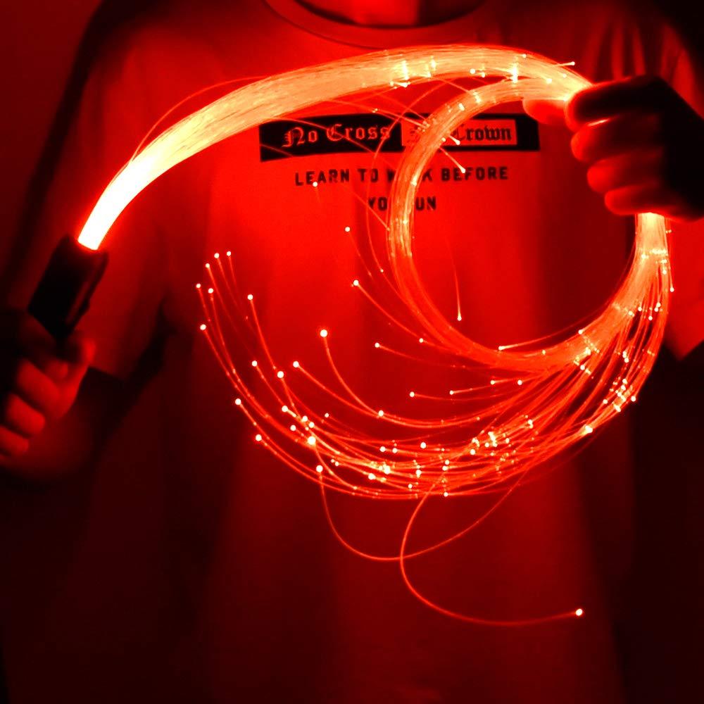 New RGB LED Fiber Optic Whip Light Sensory Light Party for Dancing Party