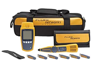 Fluke Networks MS-POE-KIT MicroScanner Copper Cable Verifier & PoE tester for RJ-45 Category 5-6A Ethernet Cables, Includes IntelliTone Pro 200 & Remote ID Kit