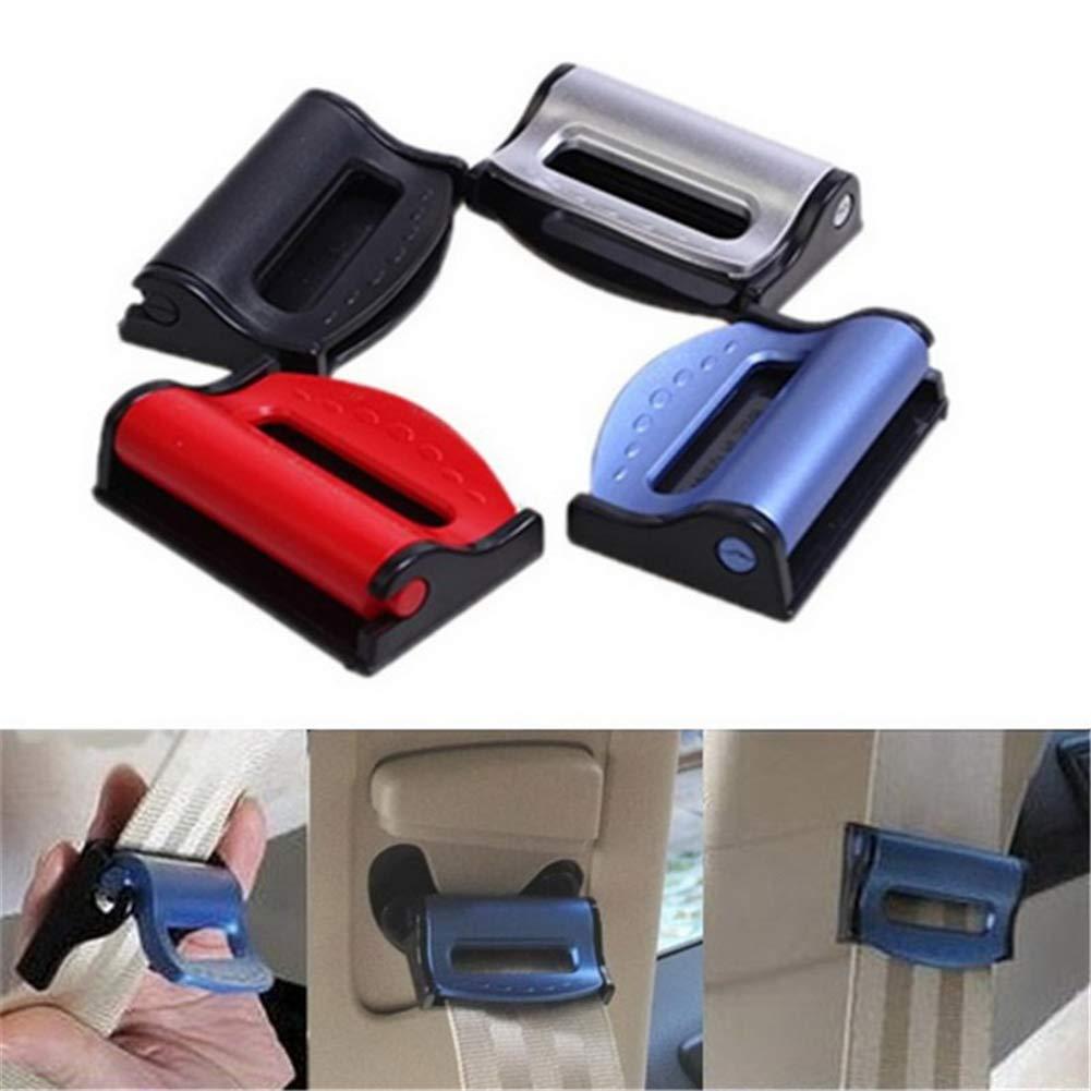 Smart Adjust Sitzgurte Zum Entspannen Sicherheitsgurt Clips Rot Gurtstopper//Gurtclip einfache Anbringung ZOOENIE 2 St/ücke Autositz Gurtversteller Locator stopper
