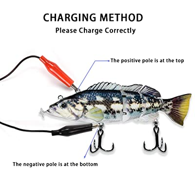 Details about  /Rechargeable Fishing Lure LED Electric Wobblers Fish Lure Bait Multi-Joint 15cm
