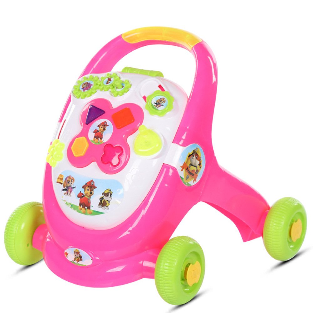 JZM PrevencióN De Vuelco De MúLtiples Funciones De Baby Walker Boys and Girls Learn Walking Walker Cart Toys,Pink