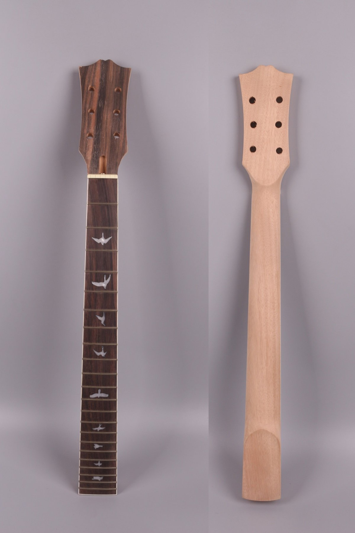 electric guitar neck unfinished 22 fret 24.75 inch Mahogany rosewood Fretboard Bolt LP electric guitar Bird inlay