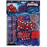 Amscan Marvel's Ultimate Spider-Man Party Favor Pack (48 Piece), Blue/Red