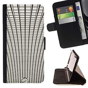 For Samsung Galaxy S4 IV I9500 Case , La estación de tren Arquitectura Arquitectura- la tarjeta de Crédito Slots PU Funda de cuero Monedero caso cubierta de piel