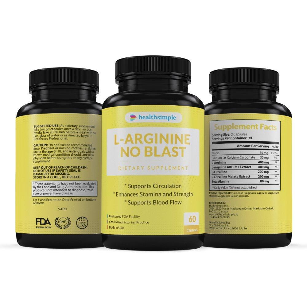 Amazon com: L-Arginine No Blast: Health & Personal Care
