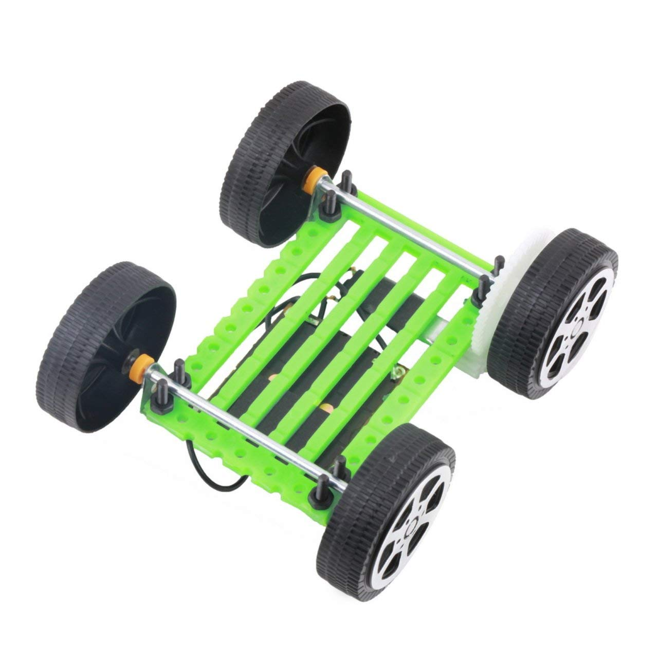 1 Unids Ni/ños Rompecabezas Educativo IQ Gadget Mini Juguete Solar DIY Coche Hobby Robot Mejor Regalo de Cumplea/ños para Ni/ños Ni/ños Verde ESjasnyfall Verde