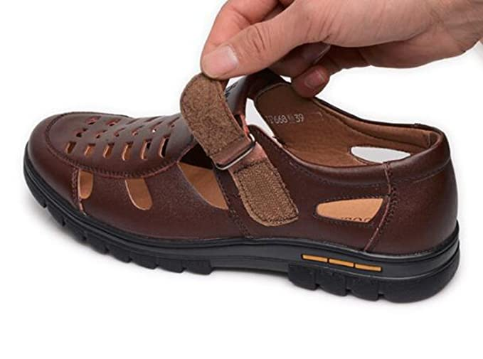 cb2e66ee18cd Yaloee Leather Sandals Breathable Soft Leather Shoes - Men