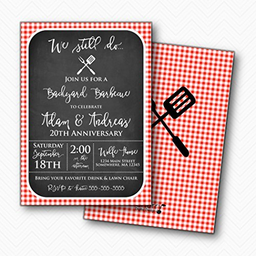 We Still Do Anniversary Party Invitations | Envelopes Included | BBQ Barbecue ()