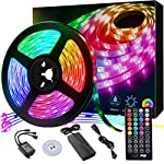 LED Strip Light, 16.4 ft Waterproof Music RGB 5050 Led Rope Lights Color Changing LED Light Strip Kit with Remote… 8