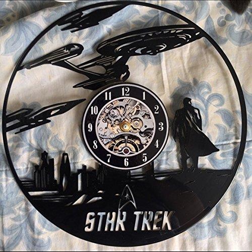 Amazoncom Star Trek Black Vinyl Record Wall Clock Handmade
