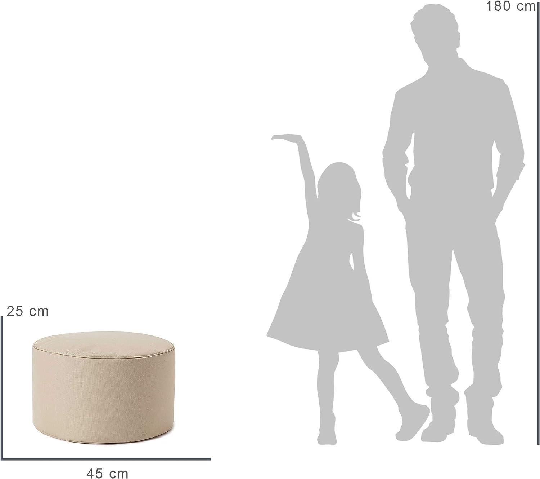 Lumaland Taburete de Interior y Exterior, puf, Silla, Impermeable - Beige