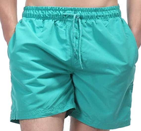 c9579b95a7a Yayu Mens Fashion Swim Trunks Quick Dry Beach Shorts Swimming Watershort Elastic  Waist Shorts 1 XXS