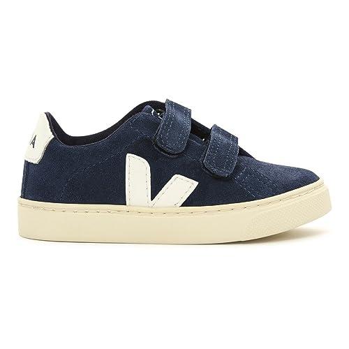 Veja Zapatillas de Deporte de Piel Vuelta Unisex Niños, Azul (Azul), 28 EU: Amazon.es: Zapatos y complementos