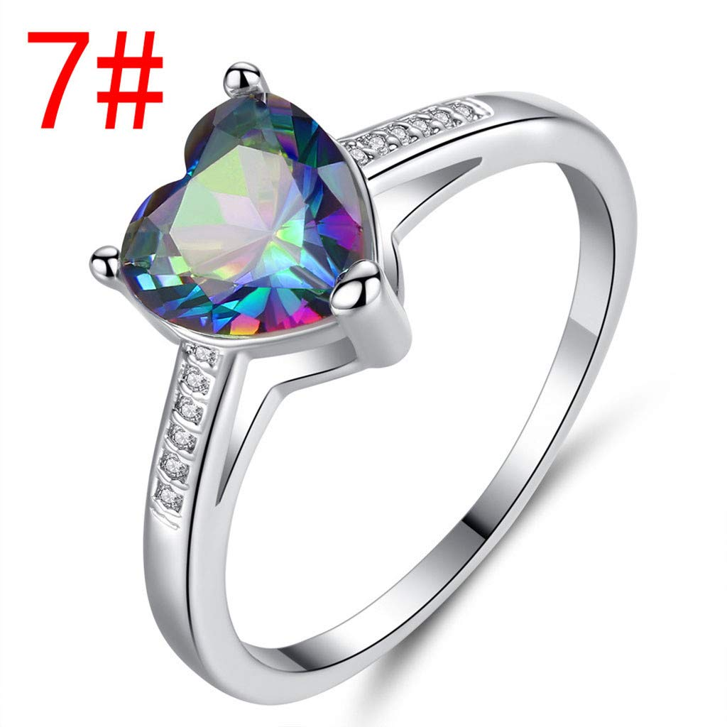 US Size Letdown/_rings Color Diamond Jewelry Wedding Band Engagement Rings Valentines Festival Gifts for Boyfriend Girlfriend