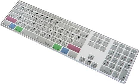 dogxiong DaVinci Resolve funcional atajos teclas Diseño Skin para teclado de silicona teclado para Apple iMac G6 con numberpaid numérico [EE. UU./UE ...