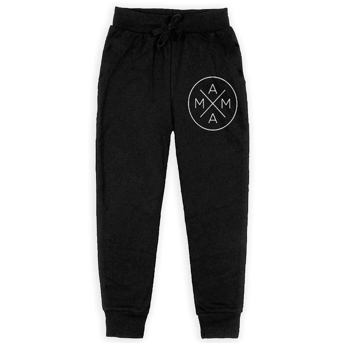 Kim Mittelstaedt Mama X Boys Big Active Basic Casual Pants Sweatpants for Boys Black
