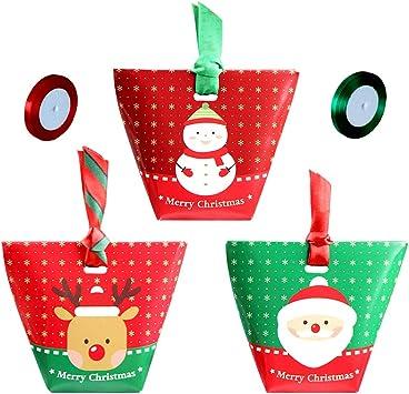 Party-Geschenk Party-Dessert-Verpackung S/ü/ßigkeiten s/ü/ße Cartoon-Verpackung Party-Geschenk DIY Geschenk-Kuchen-Papierschachtel mit Schleifen 20 St/ück Weihnachts-S/ü/ßigkeiten-Boxen