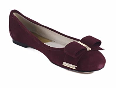 fec0907a0c9 Michael Kors Kiera Ballet MK Signature Claret Red Suede Flats Shoes SZ 8M   Amazon.co.uk  Shoes   Bags