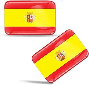 Biomar Labs® 2 pcs 3D Gel Pegatinas Bandera Nacional de España ...