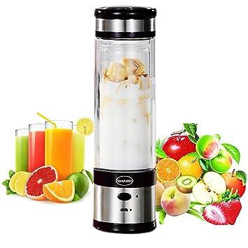 USB Juicer Cup,SAHAUHY Portable Fruit Mixing Machine Rechargeable Fruit  Juice Blender and Mixer(