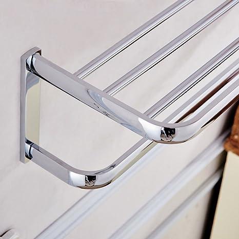 ZXY Porta-Toallas Estanterías de baño de Calidad, Placas de Plata Brillante de Cobre