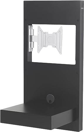 Gisan SM.110 / NE Mueble de Pared Giratorio para TV LED/LCD, con cajón de Cierre Suave. para Pantallas de Peso 20 kg y VESA máximo 200x200, DM Lacado, Negro, 100x50x41.5 cm: Amazon.es: