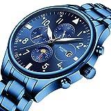 BOYZHE - Reloj de pulsera mecánico para hombre, impermeable, de acero inoxidable, automático, para hombre, de lujo, 02 Blue Steel, free size