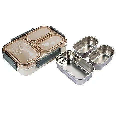 Amazon.com: Pedeco Quad - Recipiente para alimentos de acero ...