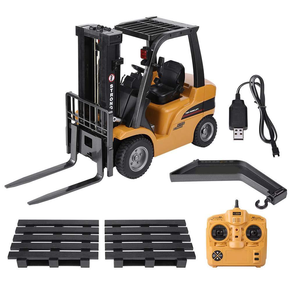 Dilwe RC Vehículo, 2.4G 8CH RC Camion Electrico Modelo de Control Remoto Máquina Elevadora Vehículo de Ingeniería