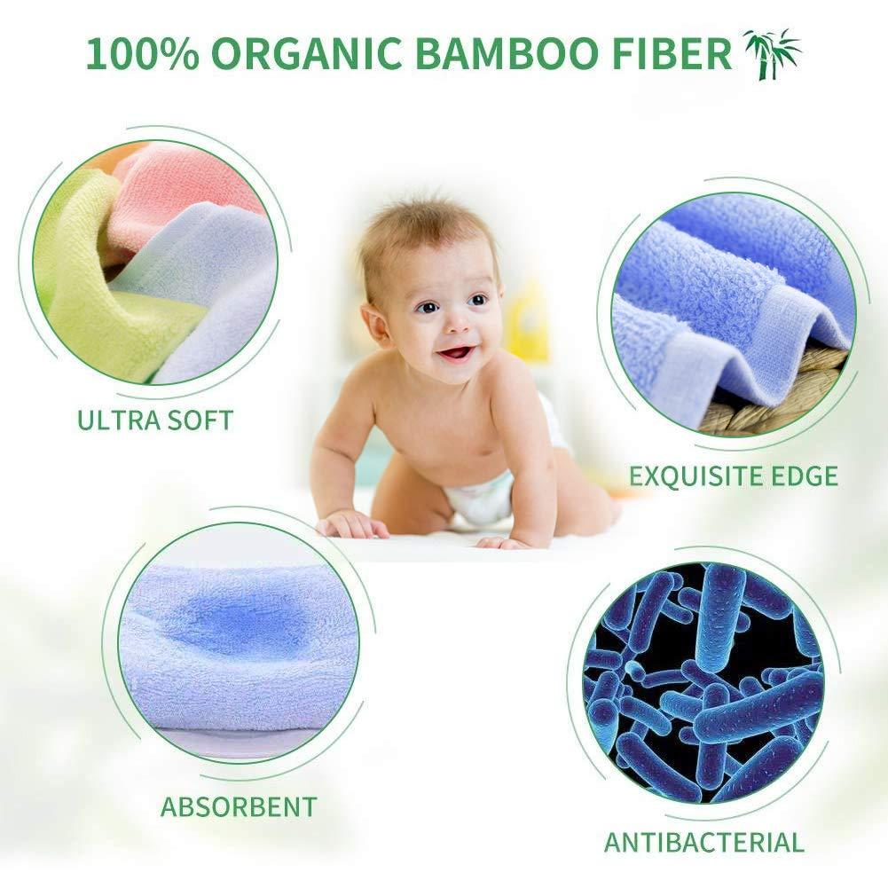 Bambus Waschlappen Fairy Baby 8 Pack Waschlappen Baby Weich Schonend auf empfindliche Haut f/ür S/äuglinge Erwachsene 25 x 25 Kleinkinder