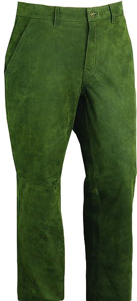 Pantalones de caza para hombre- Pantalones de cuero - verde: Amazon.es: Ropa y accesorios