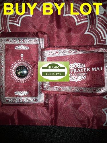 Yupengda 2013 Portable Islamic Prayer Mat / Rug with Compass Qibla Finder + Booklet(thin Prayer Mat)