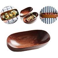 Bandeja de madera Hebudy para servir utensilios