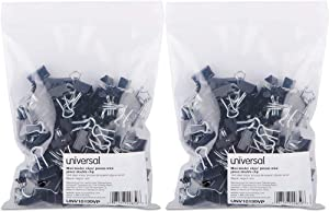 """Mini Binder Clips, Steel Wire, 1/4"""" Capacity, 1/2"""" Wide, Black/Silver, 144/Pack (2, A)"""
