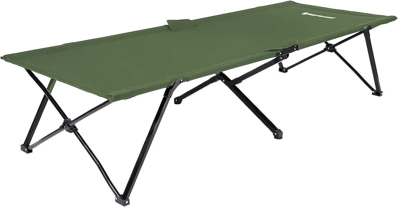 SONGMICS Multiuso Cama de Camping Catre Plegable con Bolsa de Transporte Carga MAX.de 260 kg 206 x 75 x 45 cm