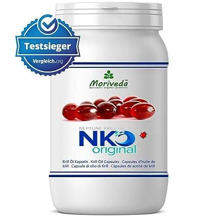 NKO aceite de krill cápsulas (ganador de la prueba) 30, 90 o 270 pieza en calidad de farmacia de MoriVeda - Omega 3,6,9 astaxantina, vitamina E, ...