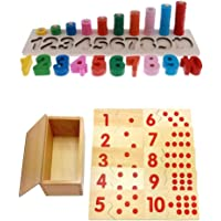 MagiDeal Wooden Montessori Teaching Material 1-10 Number Puzzles Match & Count Kids Early Learn Educational Toy