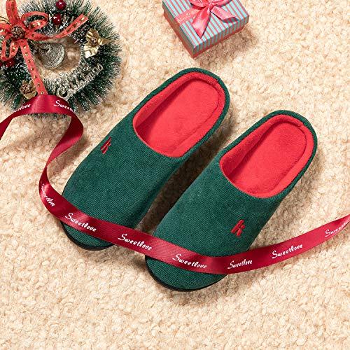 rosso E Uomo Ciabatte Invernale Confortevole Da Foam Memory Pantofole Verde Madaleno Donna Antiscivolo Casa Per 0w6U4ppq