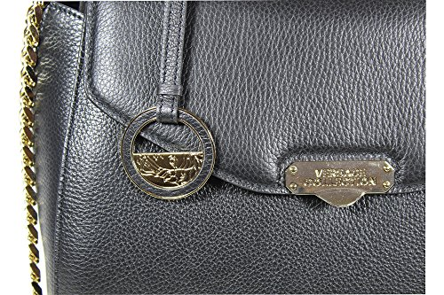 Borsa Tote Vitello Stampa Alce Tracolla Catena Versace Collection