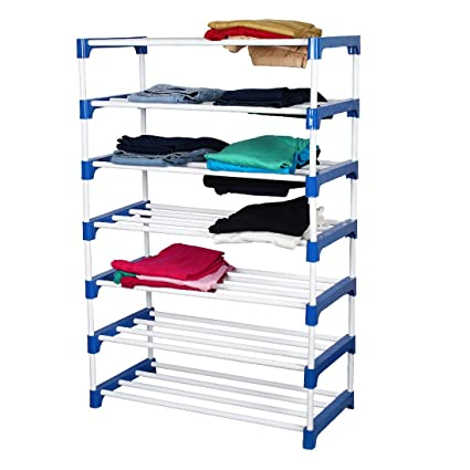 MEDED CGS Club 7 Tier Shoes, Clothes, Books & Utility Rack, Steel Frame (Extra Strong, Multipurpose)
