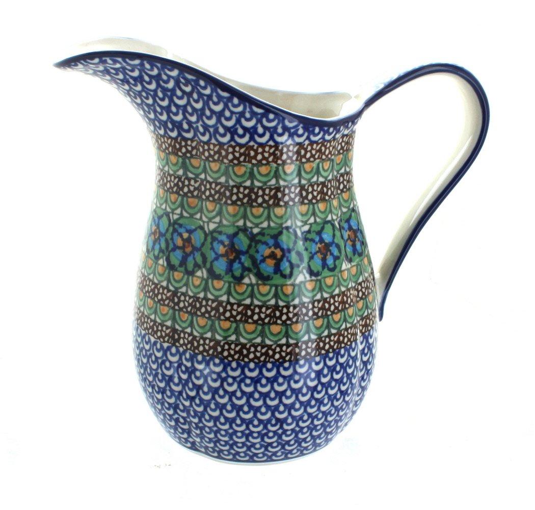 Polish Pottery Mardi Gras Pitcher by Ceramika Artystyczna (Image #1)