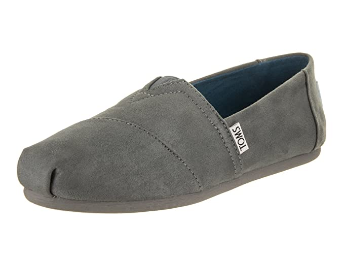 Amazon.com | TOMS Womens Classics Steel Grey Microfiber Monochrome Loafer, 8 B(M) US | Loafers & Slip-Ons