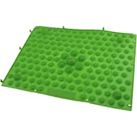 Phenovo TPE Reflexology Foot Massage Pad Toe Pressure Plate Mat Acupressure - Blue Purple Yellow Red Green 29x39cm - green