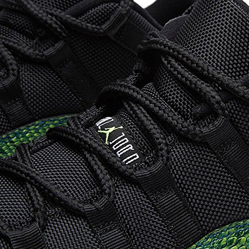 Jordan Nike Herren 11 Retro Low Basketball Schuh Schwarz-Nachtschatten-Weiß-Volt Eis