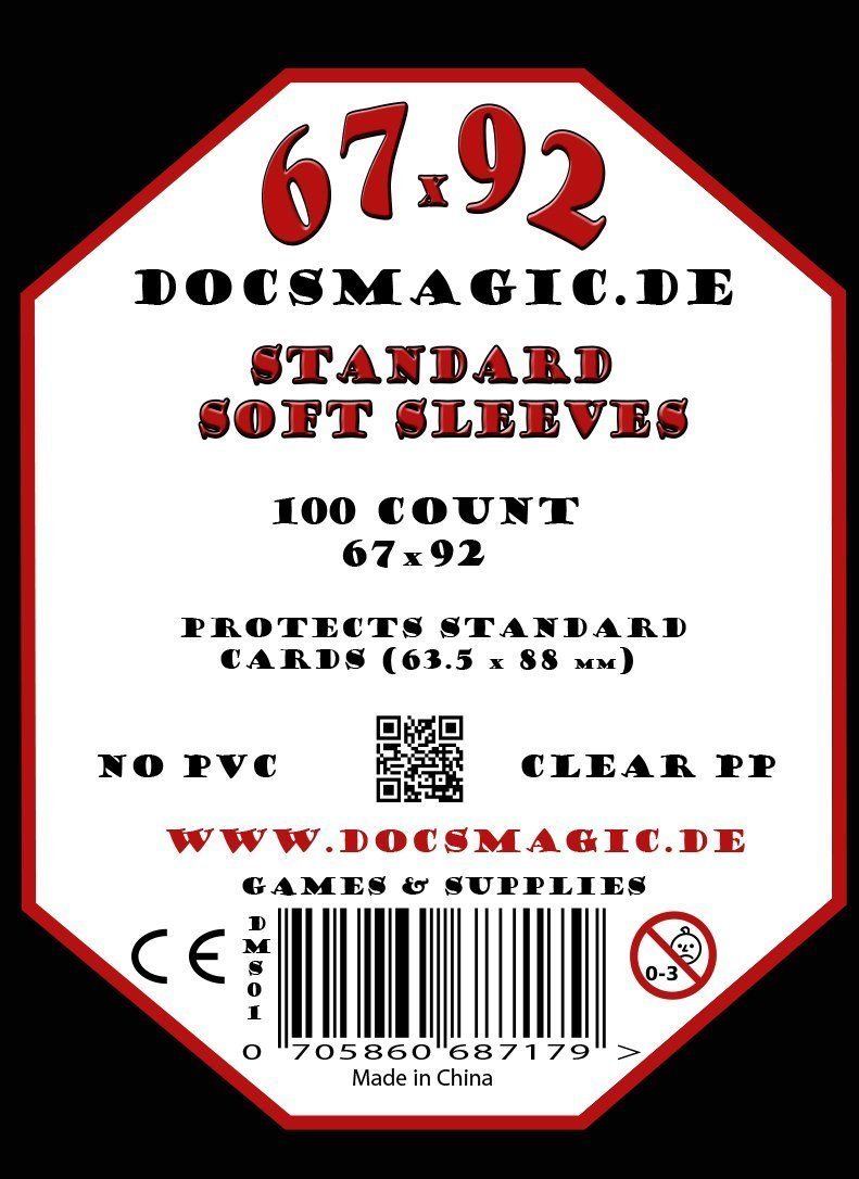 1.000 Docsmagic.de Soft Card Sleeves Clear - 10 Packs - 67 x ...